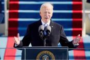 バイデン米大統領就任 「結束」訴え、政策転換