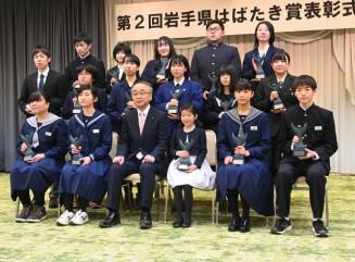 さまざまな分野で活躍し表彰された児童生徒ら