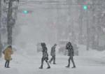 県内大雪続く 盛岡28センチ、各地で交通乱れ