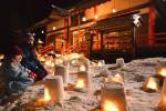 手作り雪明かり 心癒やす 二戸市の神社でイベント