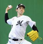 朗希、捕手座らせ本格投球 プロ野球キャンプ