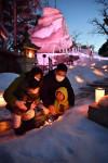 明るい未来見つめて 盛岡・桜山地区ライトアップ