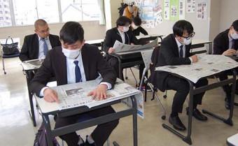 留学生、紙面に親しむ