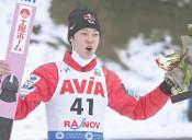 陵侑 日本男子最多V 18勝目、葛西超え