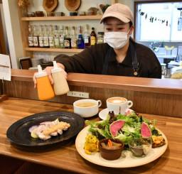 北上産の野菜をふんだんに使ったCAFE WILLOWSの「ウィローズランチB(旬彩スペシャル)」