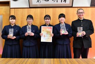 思いを込めて「復煌」を企画した(左から)大谷ちひろさん、田中心花さん、古川夢姫さん、紺野智瑚さん、中島光汰さん