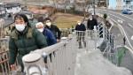 住民待望の津波避難階段 大槌・桜木町地区で現地説明会