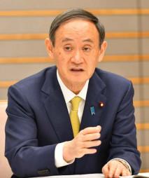 「東北の復興なくして、日本の再生なし。まちづくり、なりわいの復興に全力を尽くす」と語る菅義偉首相=9日、首相官邸(代表撮影)