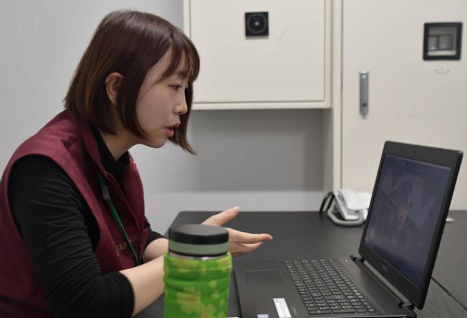 東日本大震災について伝える熊谷葉月さん