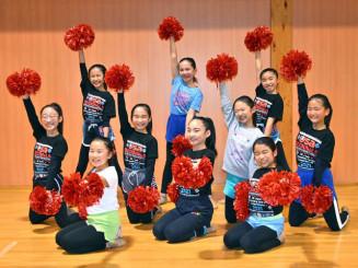 チアダンス全国大会に向けて練習に励む「Happiness」のメンバー