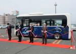 「星めぐり号」安心安全備え出発 花巻、バスが新車両に