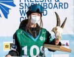 スノボW杯、岩渕が初優勝 スロープスタイル