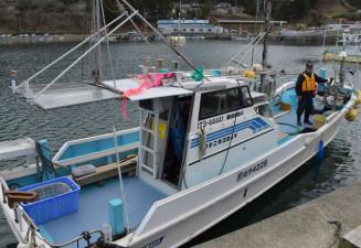 釜石市でのサッパ船クルーズで使用される11人乗り漁船。震災発生から10年を経て海を生かした観光が本格化する