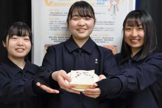 桜のジャムのカプセルを練り込んだ食パン「さくらパン」を開発した盛岡農高の3年生