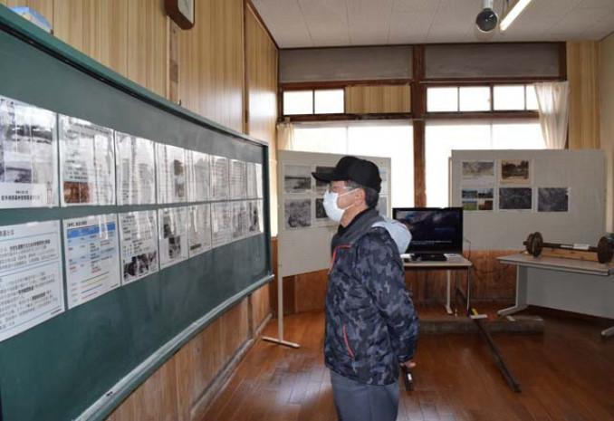 学校内に新設された森林鉄道の資料コーナー。懐かしさと新たな発見を楽しめる空間だ