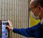 昇降指示、非接触で安心 県立軽米病院、新エレベーターを導入