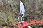不動の滝、迫力間近に 多彩なステージや屋台が人気