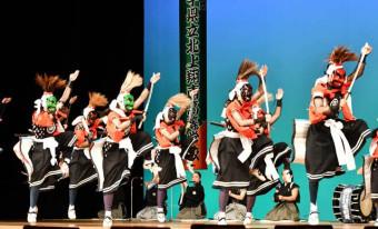 地域伝統芸能奨励賞に輝いた北上翔南高鬼剣舞部。伝統の舞を次世代へとつなぐ