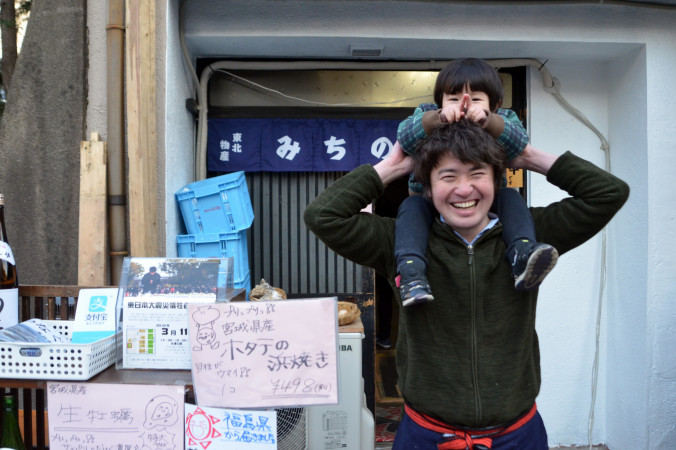 「店を通じて東北に関心をもってもらうきっかけになれば」と心を寄せる若林隆之さん