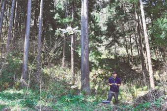 県内、スマート林業広がる ドローンで調査省力化