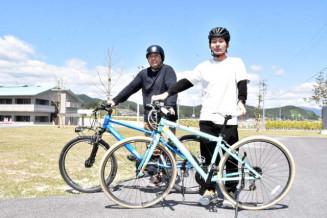 自転車ガイドツアーを始めた高田松原の関係者
