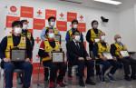 バイク災害救助に栄誉 県赤十字奉仕団、機動力生かし15年活躍