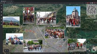 チャグチャグ馬コを紹介する写真付きマップ(東京チャグチャグ馬コ提供)