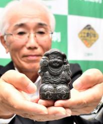 出荷された江刺金札米の米俵に封入されていたとされる大黒像