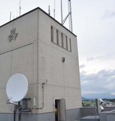 矢巾町内の居住エリア全域に整備が進むやはばWi-Fiのアンテナ