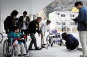 障害者らもW杯快適に 釜石、バリアフリーマップ作り