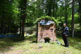 国史跡への登録が答申された栗木鉄山跡。高炉跡などの遺構が残り、製鉄の歴史を伝える=住田町世田米