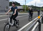 自転車ツアー 改善点探る 陸前高田で岩手大復興支援サークル
