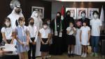 UAEへ友情の絹スカーフ 更木小児童ら養蚕、原料に
