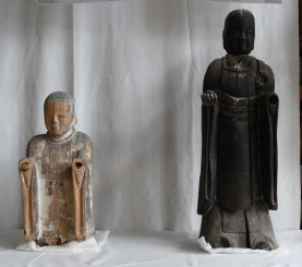 開帳された聖徳太子立像