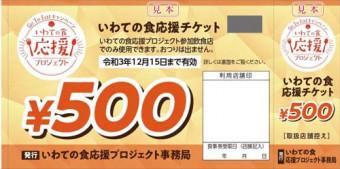 8月2日に販売、利用が始まる「いわての食応援チケット」の見本(県提供)
