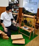 組み立て簡単ローテーブル 九戸のマルイ造形家具工業が新商品