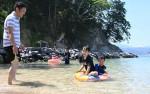 山田の3海水浴場が海開き マリンスポーツやキャンプ楽しんで