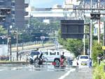 暑さにくらり 逃げ水ゆらり 県内10地点で猛暑日