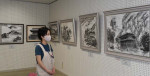 水墨画 にじむ世界観 一関の教室が作品展