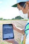 農地調査でタブレット活用 矢巾町農業委、土地の利活用促進