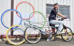 ユニークな自転車を制作 北上の男性、五輪盛り上げへ力