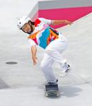 スケートボード西矢椛が金メダル 13歳、日本最年少表彰台