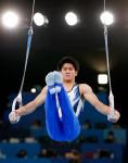 体操個人総合で19歳橋本「金」