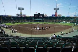 甲子園球場で行われた、第103回全国高校野球選手権大会の開会式リハーサル=8日