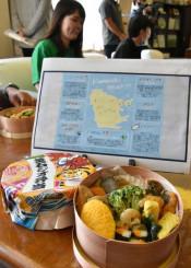 釜石市のジオサイトや文化、歴史を表現した釜石ジオ弁当