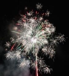 東和町の夜空を彩る花火