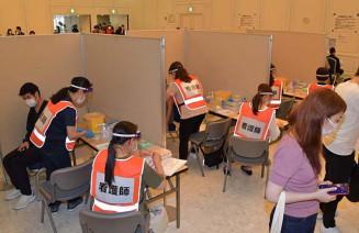 飲食店関係者を対象とした職域接種の会場