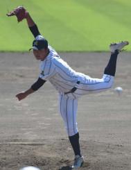 投打でチームを引っ張る久慈東の高橋桜介