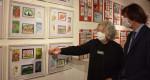 古里の四季描く800点 盛岡で絵手紙教室合同作品展