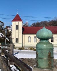 解体前の下ノ橋教会の会堂(同教会提供)